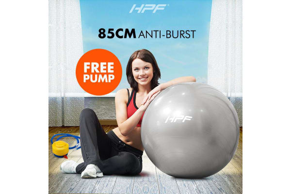 HPF Silver 85cm Yoga Gym Ball