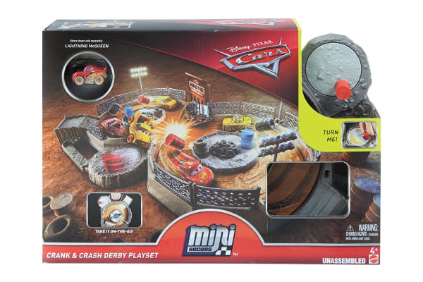 Disney Cars 3 Micro Racers Crank and Crash Derby Playset