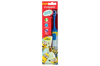 Colgate Kids Battery Toothbrush Extra Soft Bristles/Timer Minion 3y+ Assorted