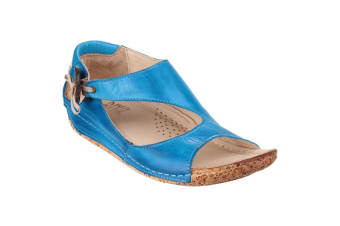 Riva Cartier Leather / Womens Sandals (Cobalt)