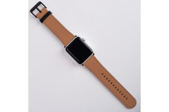 For Apple Watch Band (42mm) Series 1  2  3 & 4 Vegan Leather Strap iWatch Brown