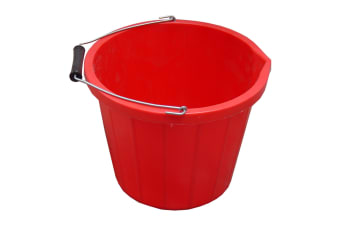 ProStable Water Bucket (Red) (3 Gallons)