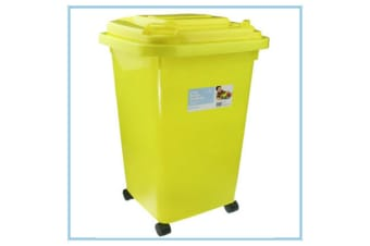 YELLOW 60L KIDS CHILDREN TOY STORAGE BIN CONTAINER PLASTIC WHEELIE BIN COLOR