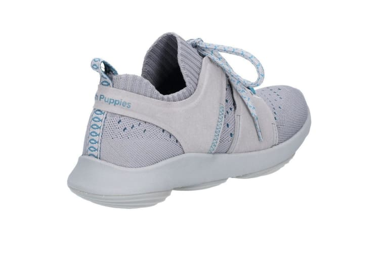Hush Puppies Mens World BounceMax Trainer (Frost Grey Knit) (3 UK)