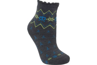 Trespass Childrens/Kids Twitcher Patterned Socks (Graphite) (9/12 UK)