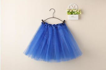 New Adults Tulle Tutu Skirt Dressup Party Costume Ballet Womens Girls Dance Wear - Royal Blue - Royal Blue