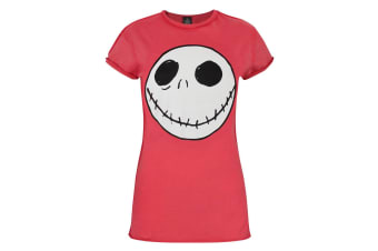 Nightmare Before Christmas Womens/Ladies Jack Reverse Seam T-Shirt (Red)