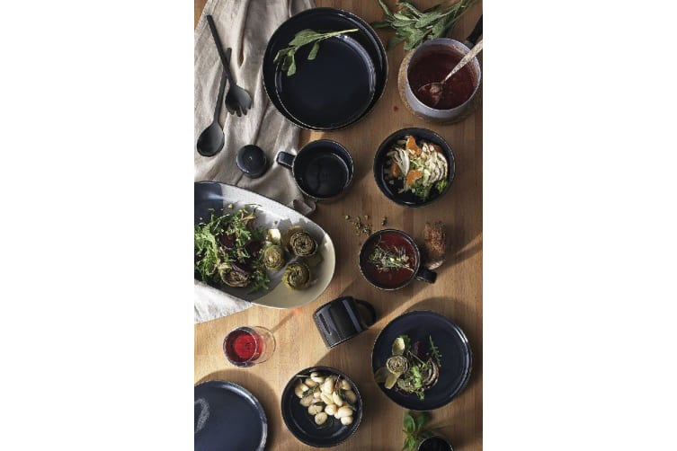 Ecology Mineral Midnight Side Plate 20cm Set of 6