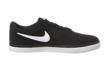 Nike SB Check Solarsoft Men's Skateboarding Shoe (Black/White, Size 9.5 US)