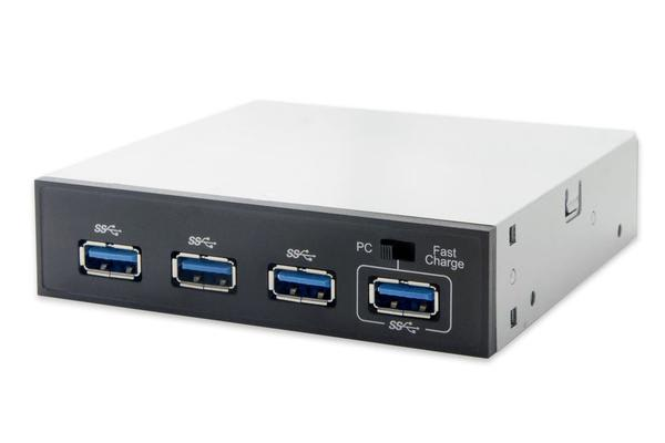 Astrotek USB 3.0 Front Panel 4 Ports 5.25' 80cm Cable Black Colour