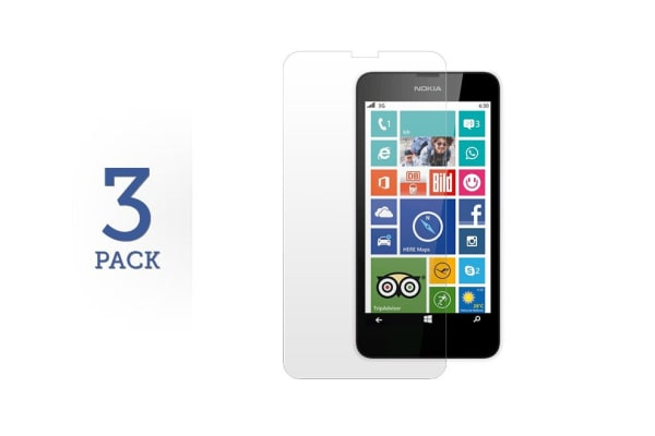 3 Pack Screen Protector for Nokia Lumia 630