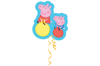 Peppa Pig Supershape Foil Balloon (Blue/Red/Pink) (One Size)