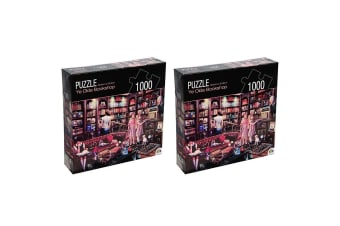 2PK 1000pc Crown Huntington Green Series Bookshop 68.6cm Jigsaw Puzzle 15y+ Toy