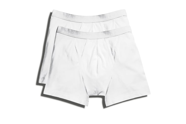 Fruit Of The Loom Mens Classic Boxer Shorts (Pack Of 2) (White) (M)