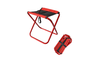 Folding Chair Portable Outdoor Folding Chair Portable Stool Red