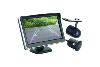 "COMMAND 5"" DASH MOUNT LCD COLOUR HI DEF MONITOR & REVERSE REVERSING CAMERA KIT"