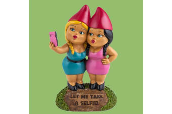 The Selfie Sisters Garden Gnome | Hilarious & Quirky Talking Piece!