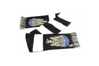 Newcastle United FC Official Football Jacquard Bar Scarf (Black/White)