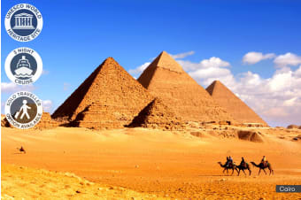 EGYPT: 10 Day Cairo & Nile Cruise Plus Hurghada Red Sea Package for One, Two or Three