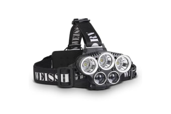 Set of 2 Six Mode LED Head Light Flash Torch