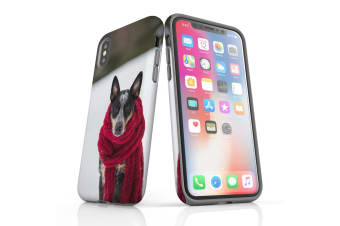 For iPhone XS Case  Protective Back Cover  A Cold Day for the Dog