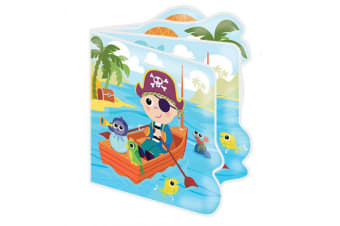Lamaze Baby Bath Book Yo Ho Horace Interactive Toy/Waterproof Pages/Squeaker