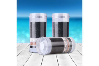 Devanti Water Cooler Dispenser Tap Water Filter Purifier 6-Stage Filtration Carbon Mineral Cartridge - Pack of 3