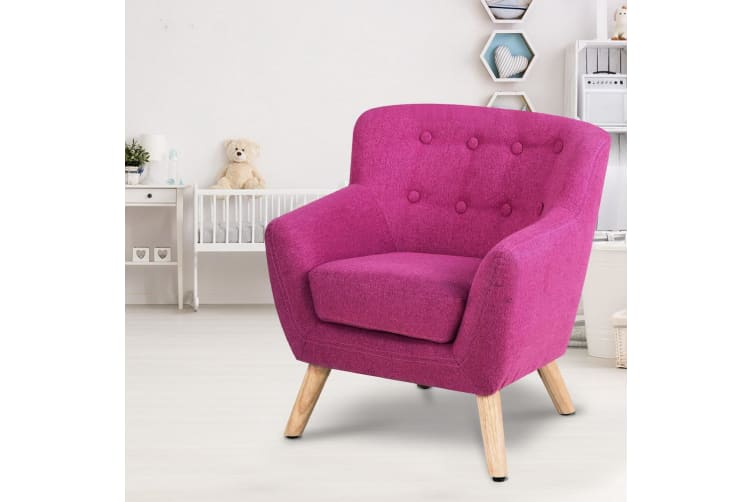 Marvelous Artiss Kids Sofa Armchair Fabric Furniture Lorraine French Couch Children Pink Creativecarmelina Interior Chair Design Creativecarmelinacom
