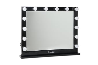 Make Up Mirror Frame with LED Lights 65x80cm (Black)