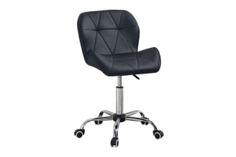 Computer Desk Office Study Chair PU Leather Adjustable Chair BLACK