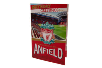 Liverpool FC Pop-Up Birthday Card (Red) (One Size)