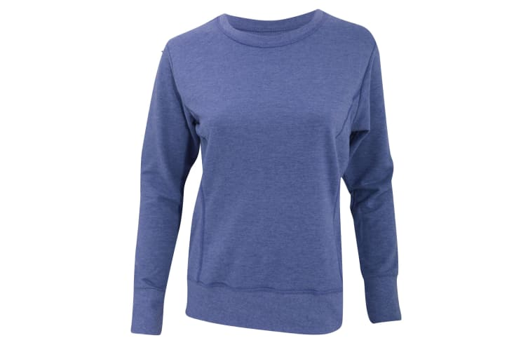 Anvil Womens/Ladies Mid-Scoop French Terry Semi-Fitted Sweatshirt (Heather Blue) (2XL)