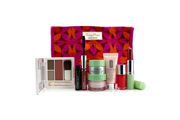Clinique Travel Set: Moisture Surge + CC Cream + Eye Cream + Makeup Palette + Mascara & Lipgloss + Lipstick #15 + Nail Polish + Bag (7pcs+1bag)
