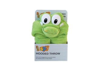 Bambury iSpy Hooded Kids Throw - 127 x 96cm - Crocodile