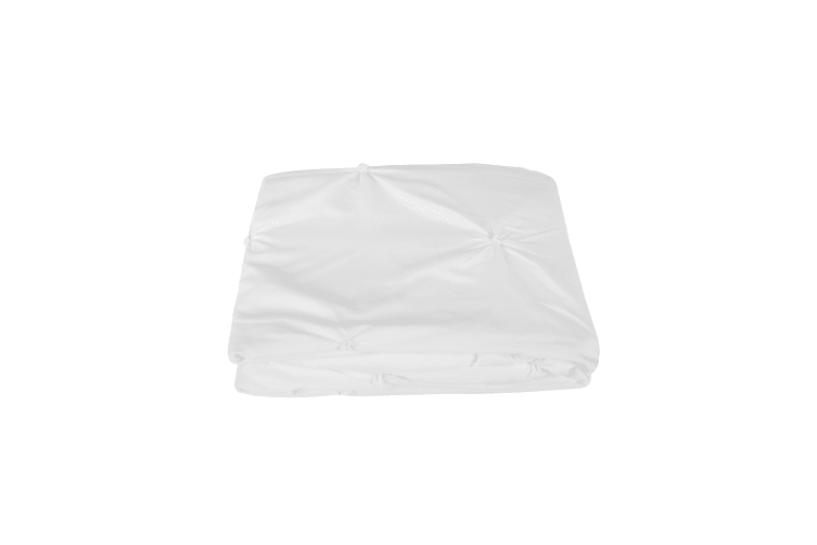 Dreamaker Spandex Emboridery Quilt Cover Set Pintuck Super King Bed - White