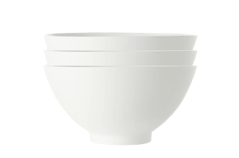3x Maxwell & Williams White Basics Round Noodle Bowl 18cm Pasta Rice Soup Cereal