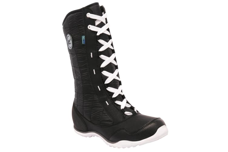 Regatta Great Outdoors Womens/Ladies Northstar Lace Up Waterproof Winter Boots (Black/White) (UK 7)