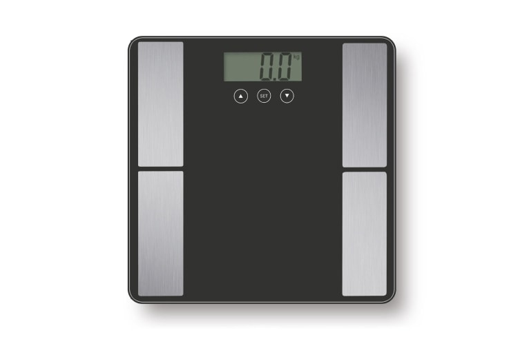 Digital Body Analyser Scale LCD Screen Weight Tracker Tempered Glass Black Blue