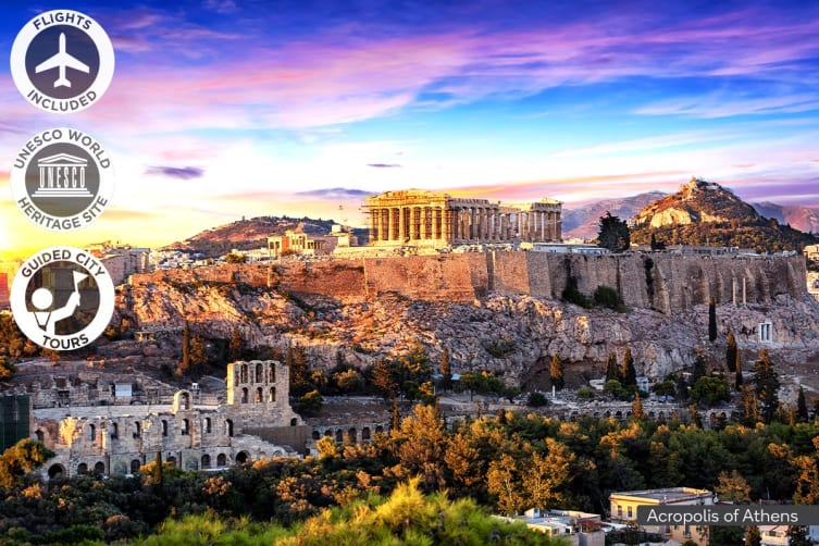 GREECE: 15 Day Magical Greece Package Including Flights for Two