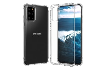ZUSLAB Galaxy S20+ S20 Plus 4G 5G Tough TPU Clear Case Shock Absorption Rubber Bumper Protective Cover for Samsung