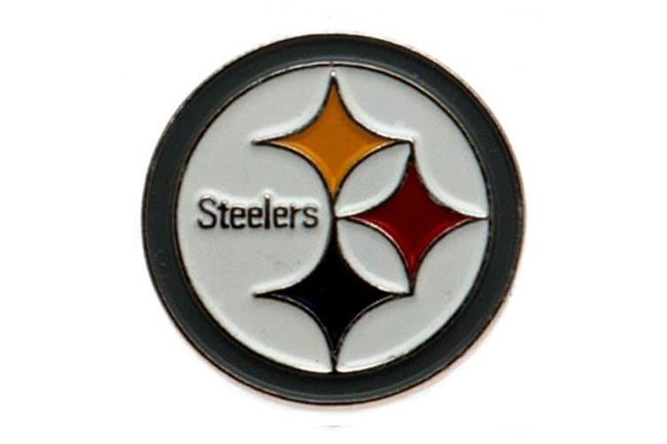 Pittsburgh Steelers Badge (White) (One Size)