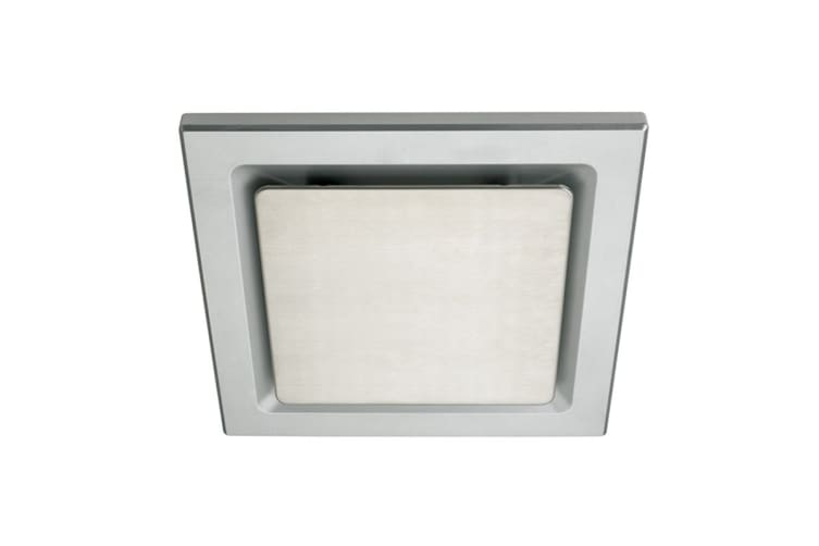 Heller 200mm Square Exhaust Fan with Silver Grille & Stainless Steel Insert (HEFM200SSQ)