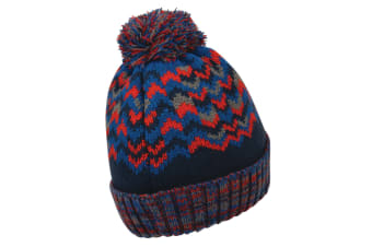 Dare 2B Mens Headstrong Beanie (Admiral Blue/Fiery Red)