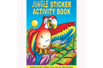 WF Graham A6 Sticker & Activity Books (Pack of 24) (Jungle) (One Size)