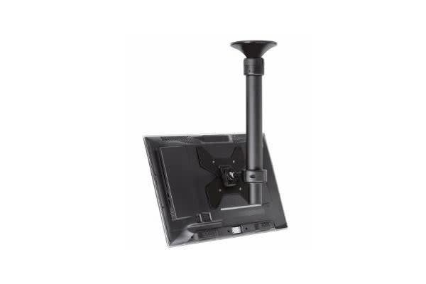 ATDEC TH-1040-CTS CEILING MOUNT SHORT POLE/TILT/BLACK. ADJUSTABLE RANGE 400MM-900MM FROM CEILING. FITS MOST DISPLAYS FROM 17IN TO 42IN.