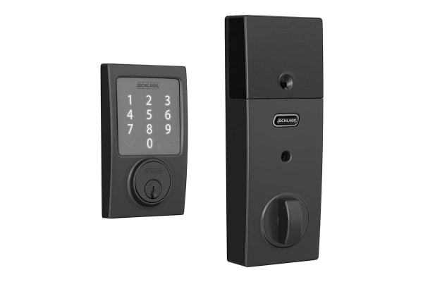 Schlage Sense Touchscreen Smartlock with Century Trim (Matte Black)