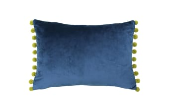 Paoletti Fiesta Rectangle Cushion Cover (Indigo/Olive)