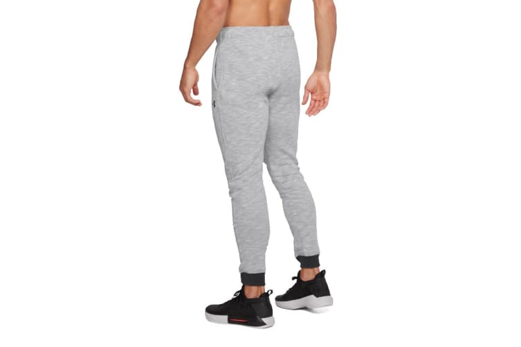 Under Armour Men's Baseline Tapered Pants (Gray Heather, Size Extra Large)