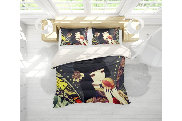 3D Anime Hell Girl Quilt Cover Set Bedding Set Pillowcases 09-Single