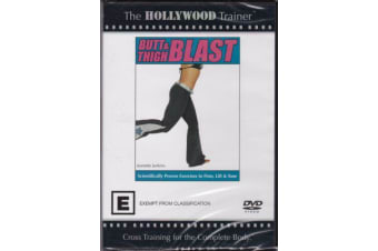 HOLLYWOOD TRAINER BUTT & THIGH BLAST -Educational Series Region 4 DVD NEW